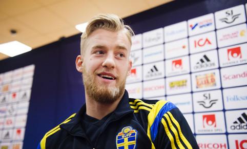 Fotboll, inför EM-kval, träning Sverige